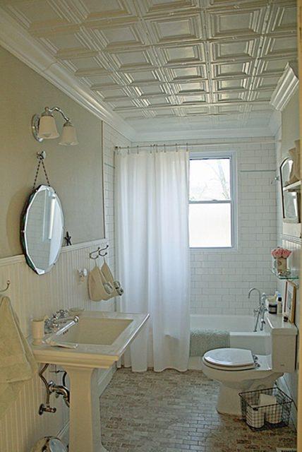Пенопластовая плитка в ванной