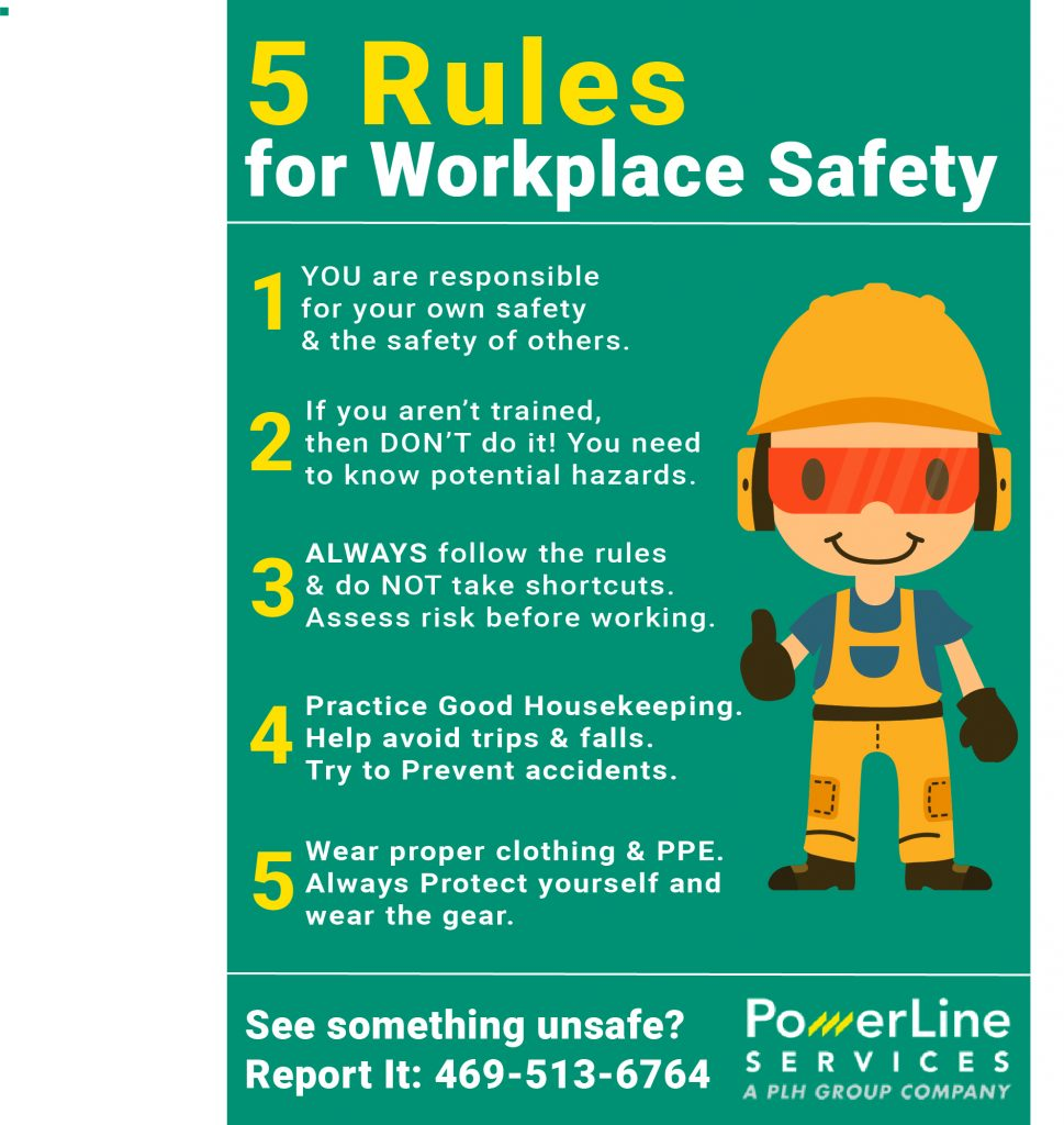 5 Rules Of Safety Power Lines Inc