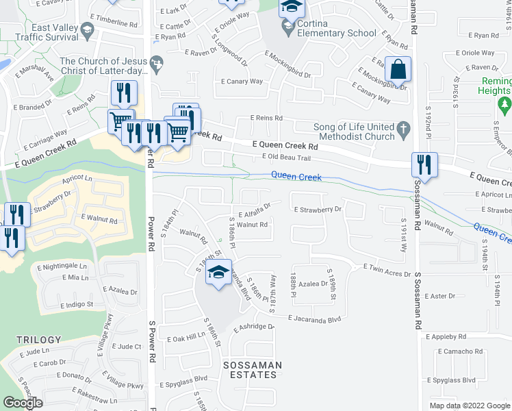 Queen Creek Arizona Map