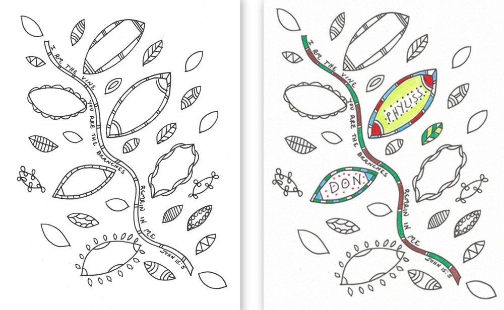 Praying in Color Coloring Pages | Praying in Color