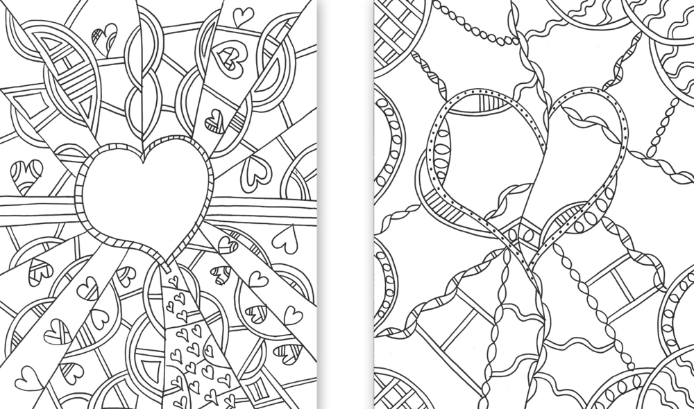 Heart Templates Coloring Page | Praying in Color
