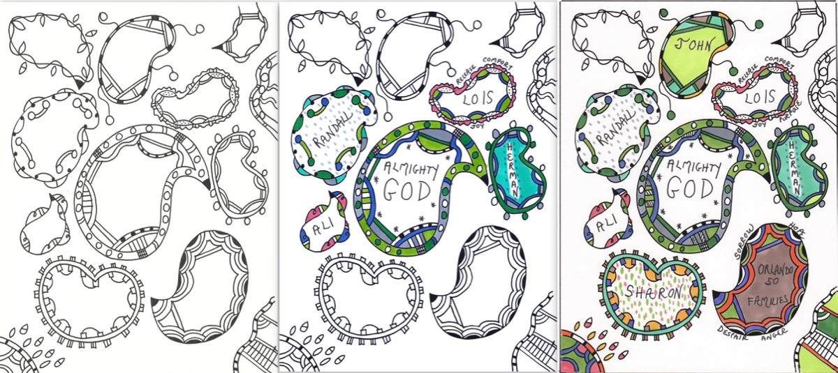 Intercessory Prayer on a Coloring Page | Praying in Color