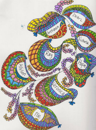 Praying in Color Drawing | Praying in Color