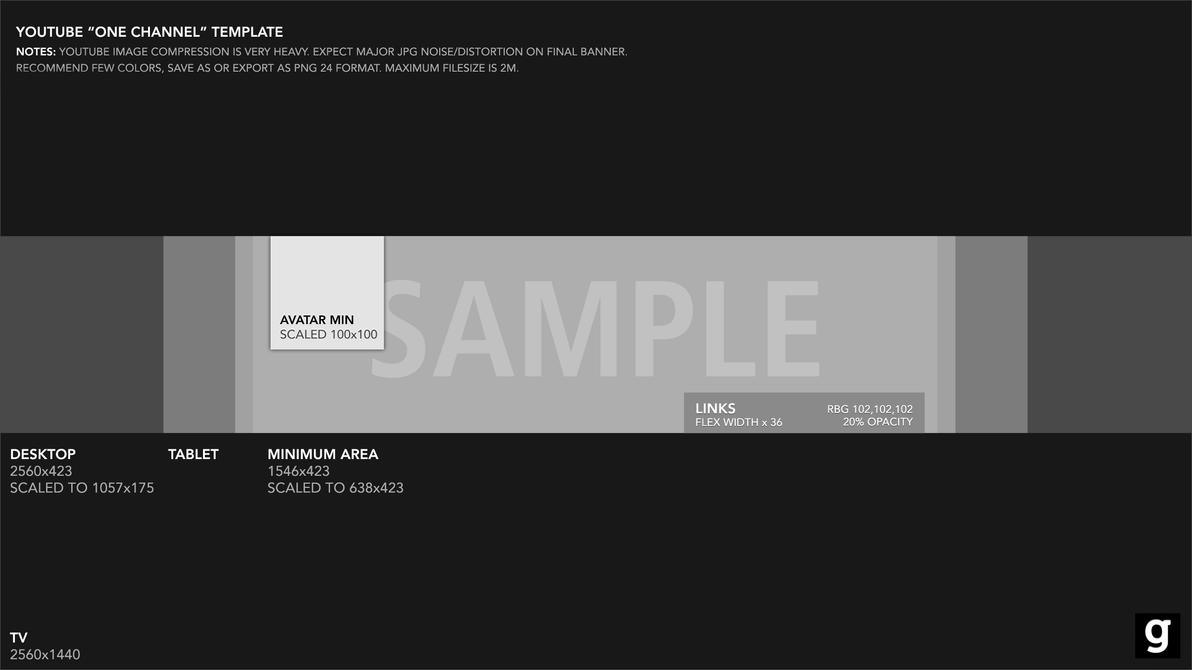 Youtube banner template 2015 by garcinga10 on DeviantArt Youtube banner template 2015 by garcinga10
