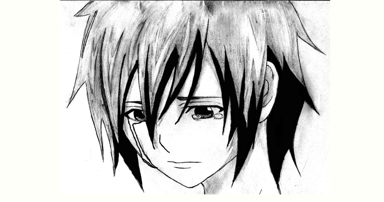 Sad Anime Sketch