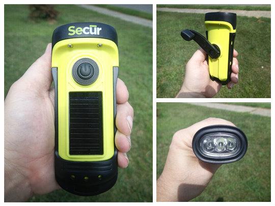 Secur Waterproof Solardynamo Led Flashlight