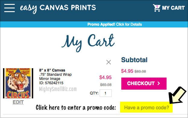 3 Easy Canvas Prints Promo Codes, Coupons (93% Off!) • 2019