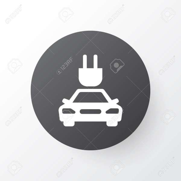 Electric Car Icon Symbol  Premium Quality Isolated Plug Element     Electric Car Icon Symbol  Premium Quality Isolated Plug Element In Trendy  Style  Stock Vector