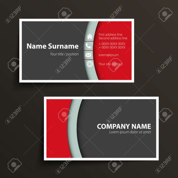 Modern Simple Business Card Template  Vector Format  Royalty Free     Modern simple business card template  Vector format  Stock Vector   31276678