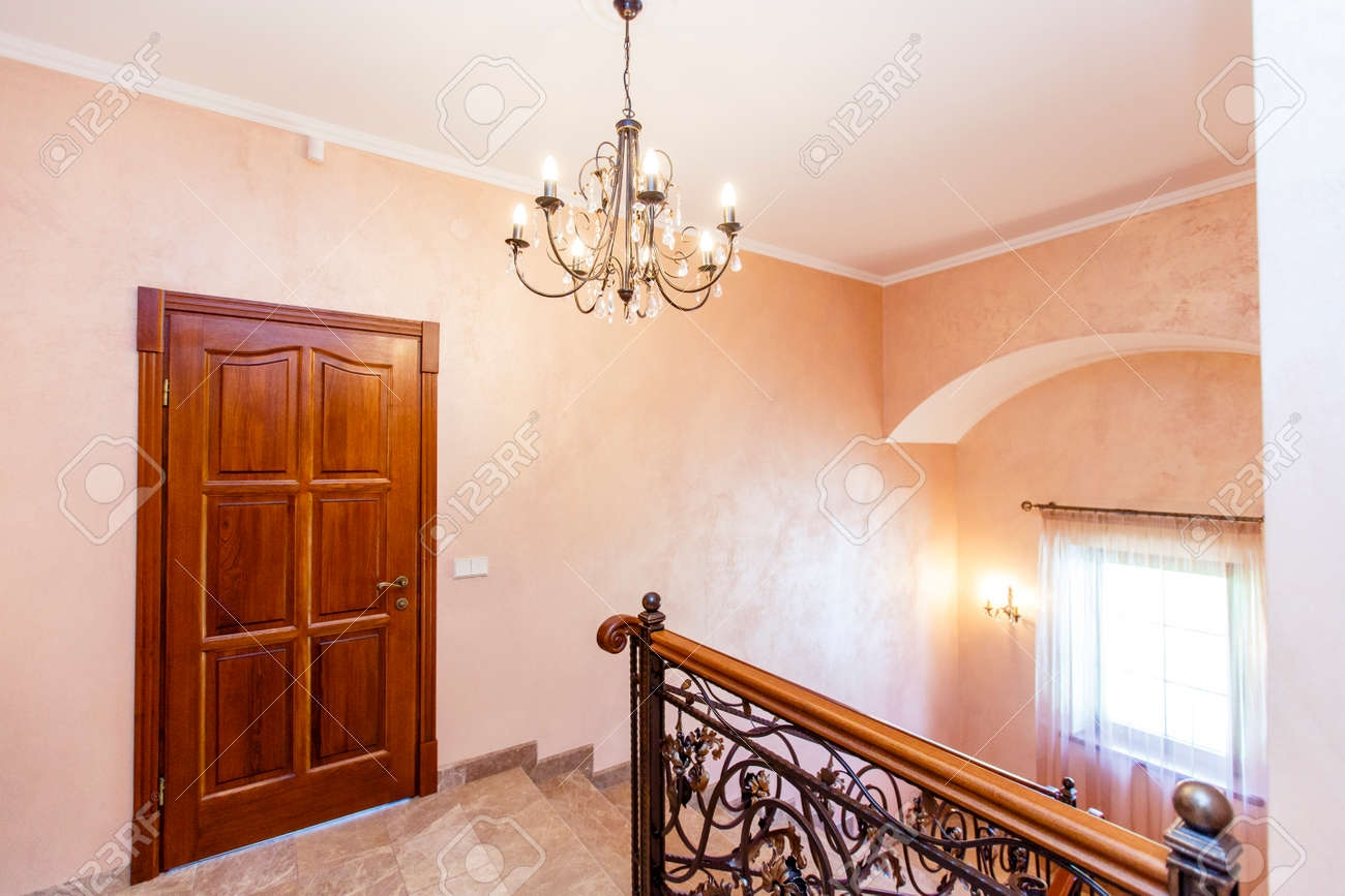 Stairs In The Cottage Marble Steps Wrought Iron Railings Wooden | Wooden Handrails For Steps | Iron | Different Kind Wood | Wood Patio | Rustic | Staircase Wooden