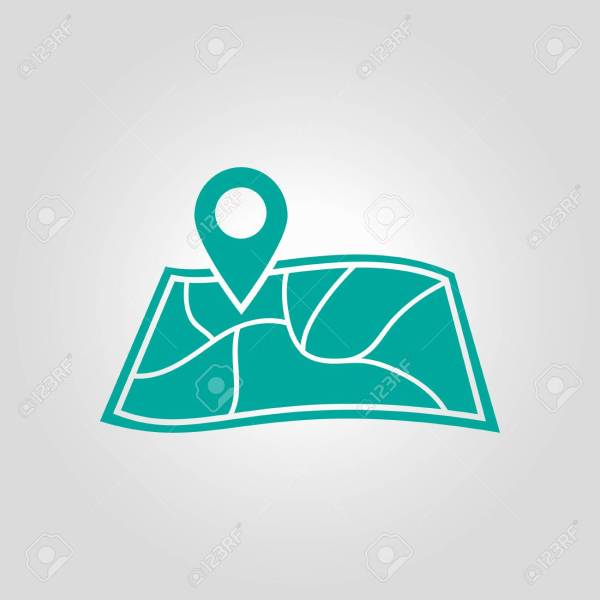 Map With A Pin Icon  Map Navigation Symbol  Royalty Free Cliparts     Map with a pin icon  Map navigation symbol  Stock Vector   78061118