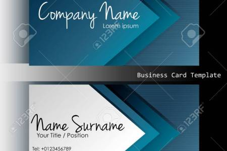 A Front And Back Business Card Template Royalty Free Cliparts     A front and back business card template Stock Vector   34412994