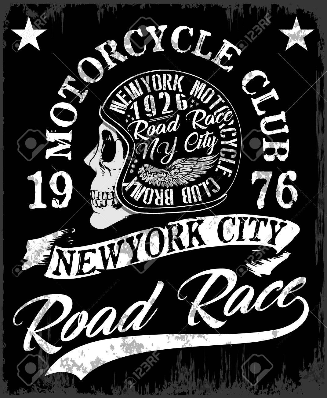 Download p motorcycle label t shirt design with illustration of custom chopper stock vector 74186818 motorcycle label
