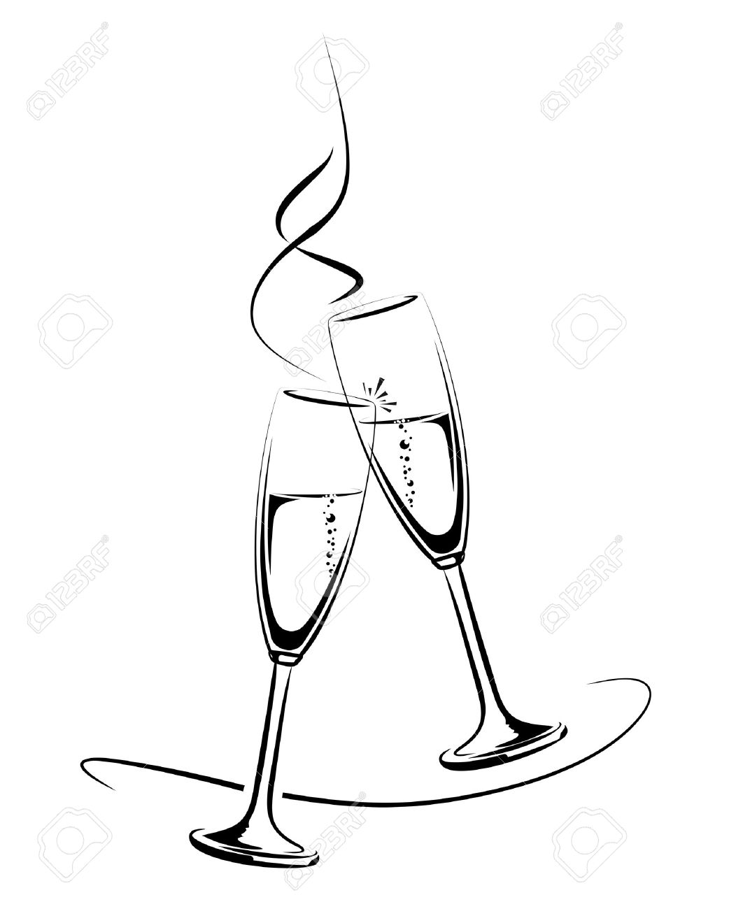 Ch agne clipart 3 748 cheers ch agne stock vector illustration and royalty free