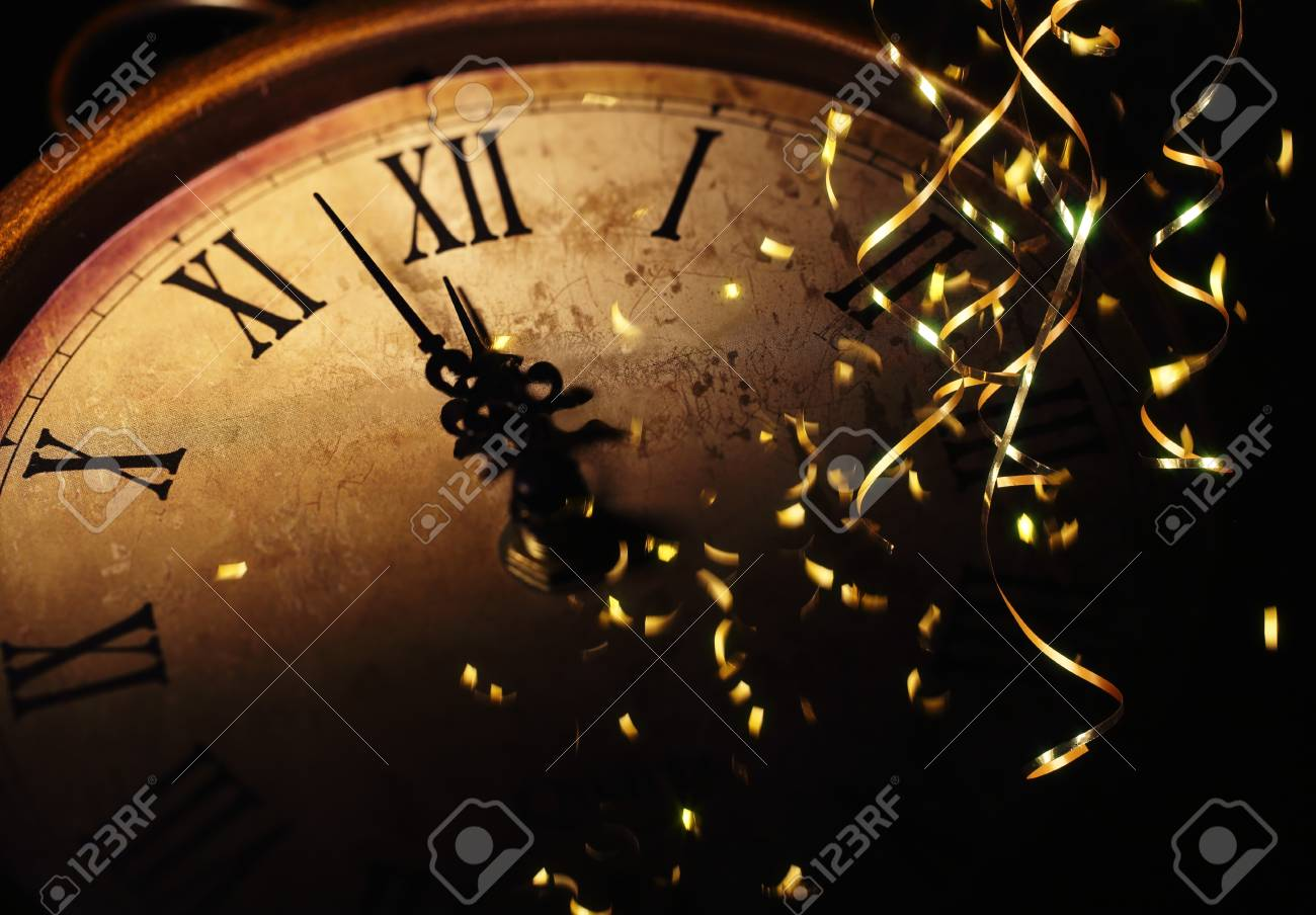 New Year Clock Before Midnight Stock Photo  Picture And Royalty Free     new year clock before midnight Stock Photo   92672880