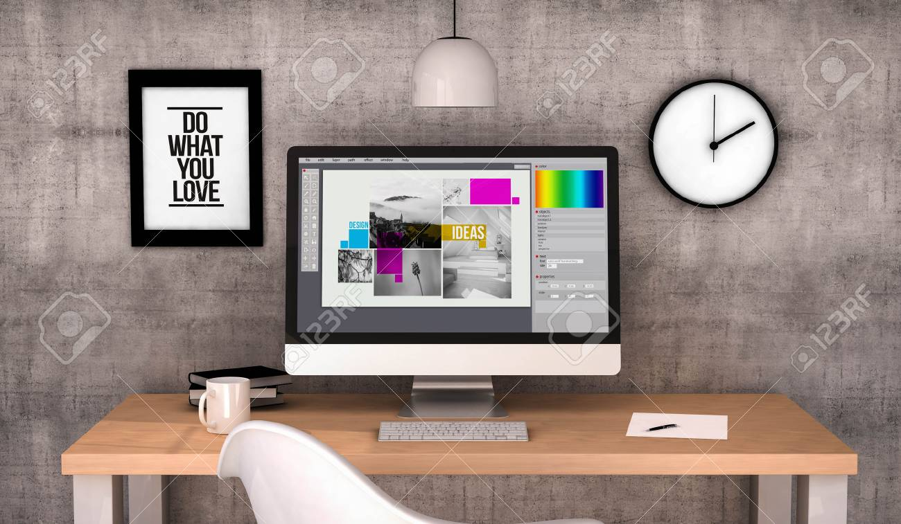 Best Kitchen Gallery: Digital Generated Workspace Desktop With Graphic  Design Software Of Graphic Designer Workspace
