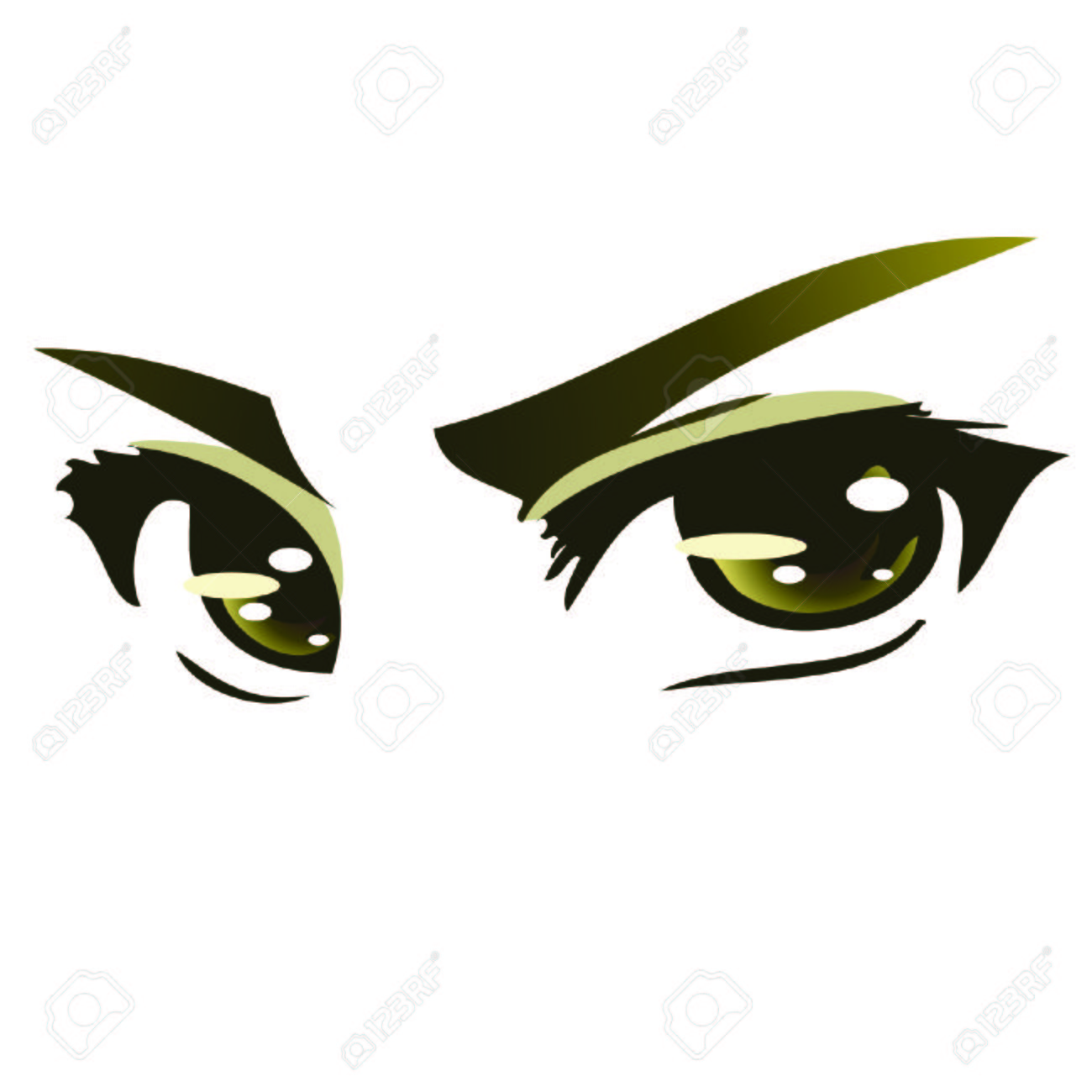 Green Intense Anime Eyes Royalty Free Cliparts  Vectors  And Stock     Green Intense Anime eyes Stock Vector   43452419