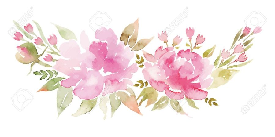 Watercolor Flowers Peonies  Handmade Greeting Cards  Spring     Watercolor flowers peonies  Handmade greeting cards  Spring composition   Stock Vector   38364842