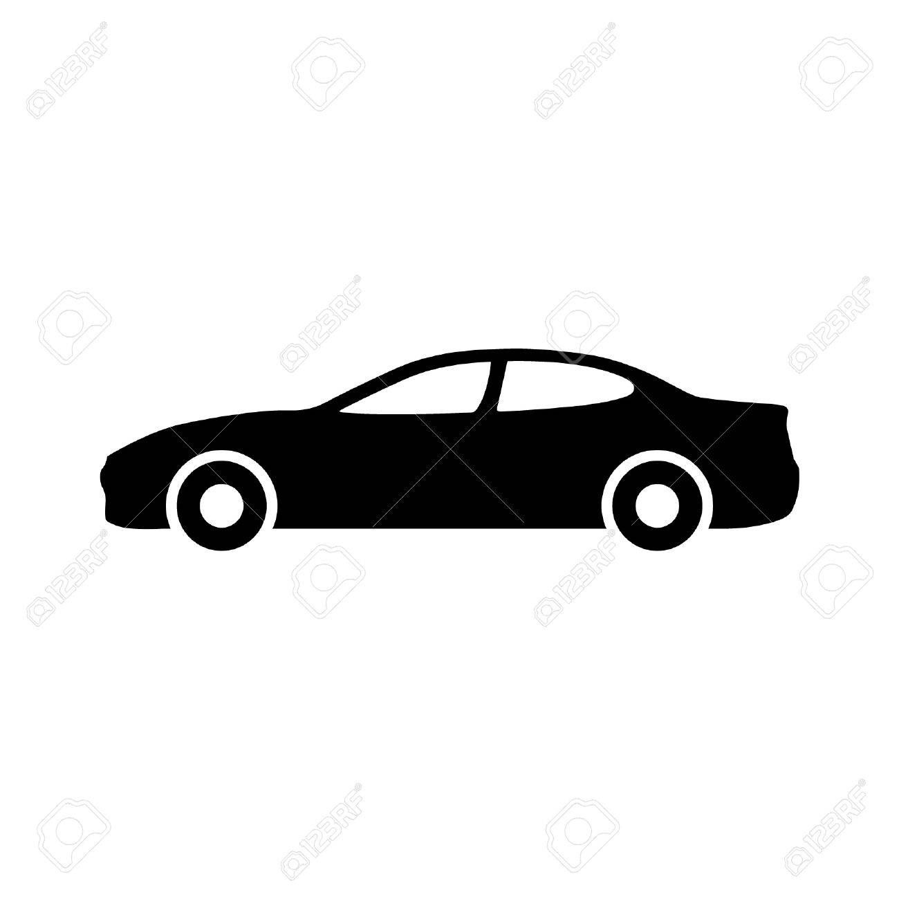 Luxury car automobile side view flat icon for apps and websites