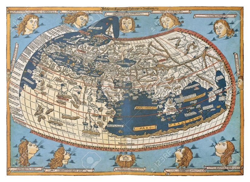 Map Of The World  in Those Days Known   After Claudius Ptolemy s     Map of the world  in those days known   after Claudius Ptolemy s work