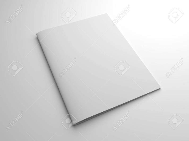 Blank Photo realistic Brochure Or Magazine In US letter Format     Blank photo realistic brochure or magazine in US letter format isolated on  gray with