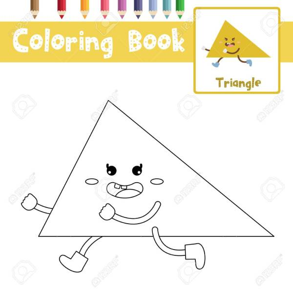 triangle coloring page # 51