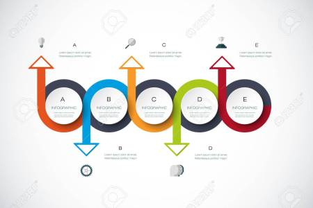 Vector Infographics Timeline Design Template With 3D Paper Label     Vector   Vector infographics timeline design template with 3D paper label   integrated circles background  Blank space for content  business   infographic