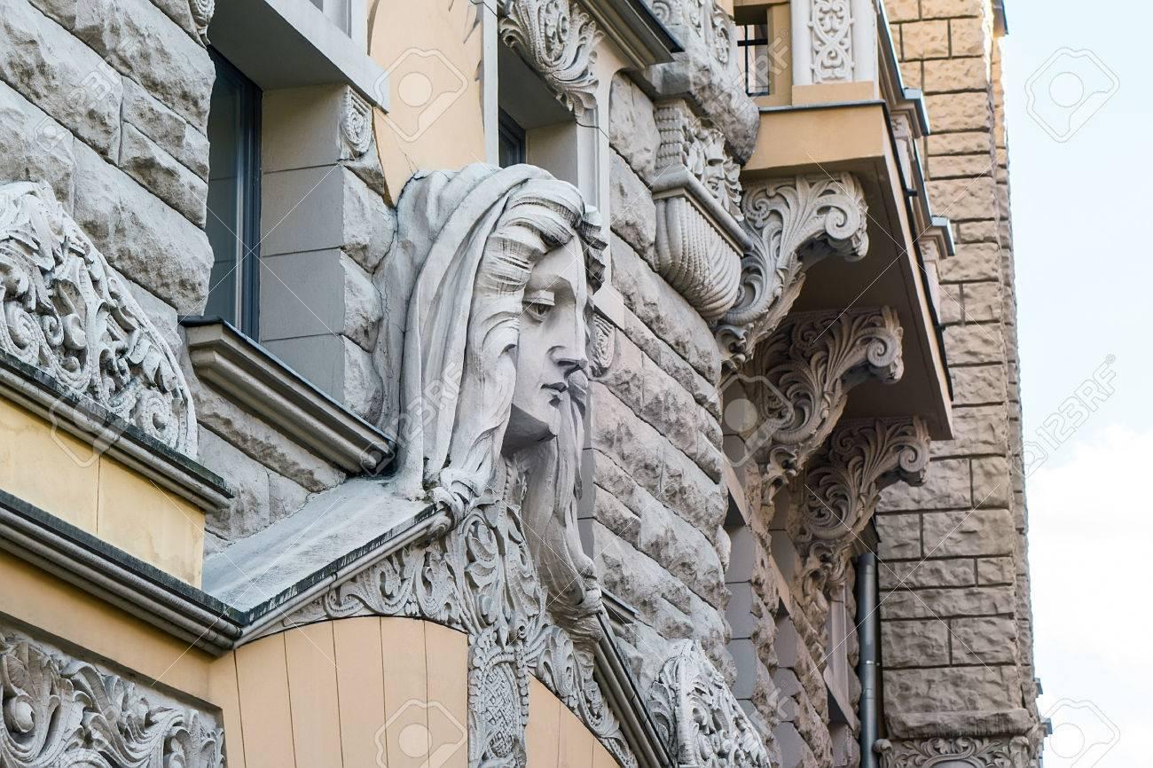 Best Kitchen Gallery: Detail Of Art Nouveau Building In Riga Latvia Art Nouveau of Art Nouveau Architecture on rachelxblog.com