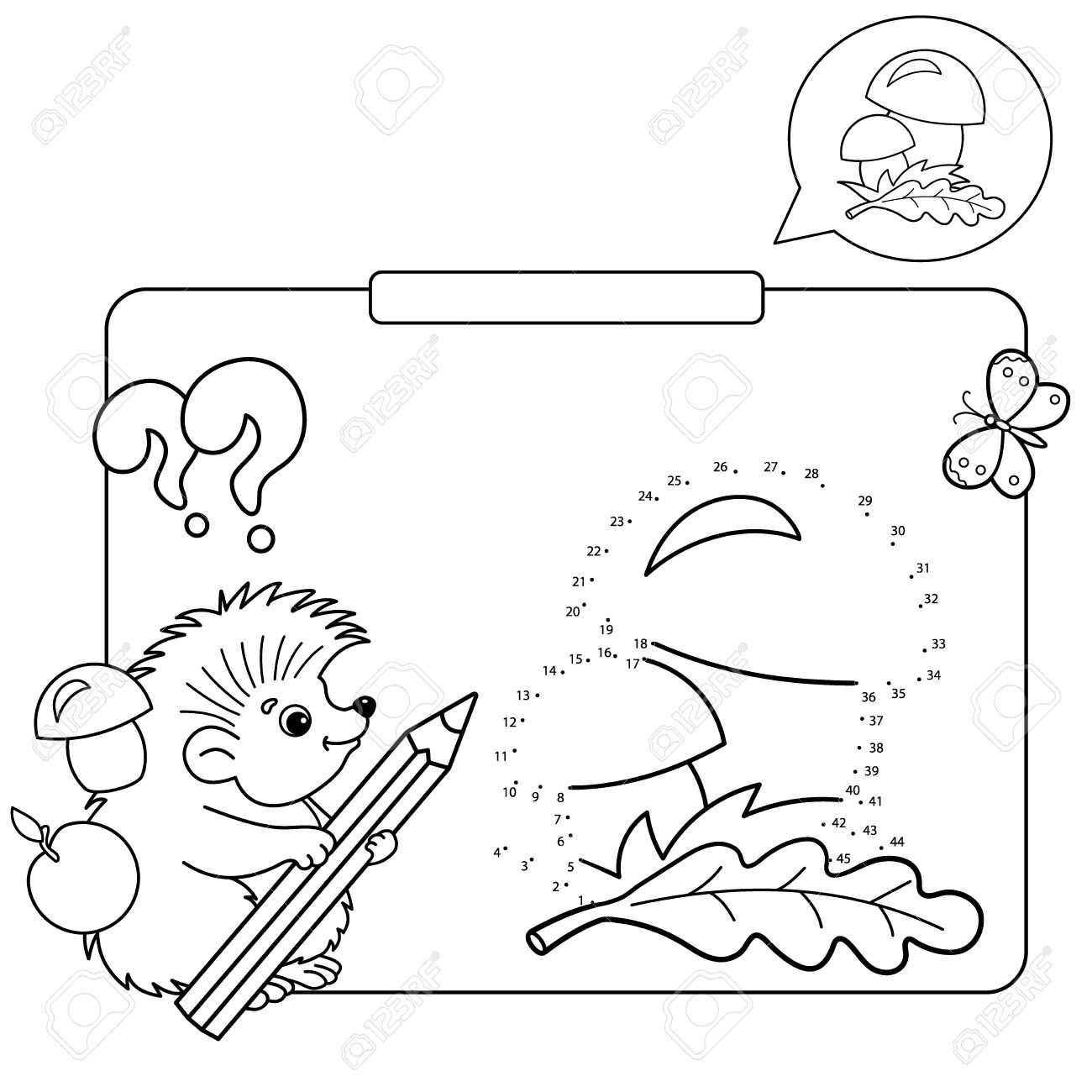 Educational Games For Kids Numbers Game Mushrooms Coloring