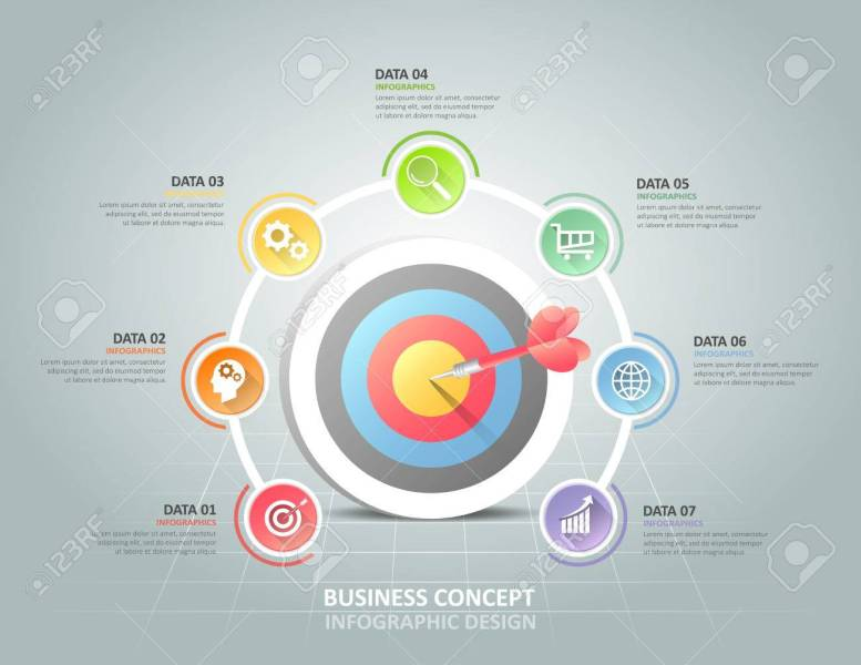 Circle Infographic 7 Options  Business Concept Infographic Template     Circle infographic 7 options  Business concept infographic template can be  used for workflow layout