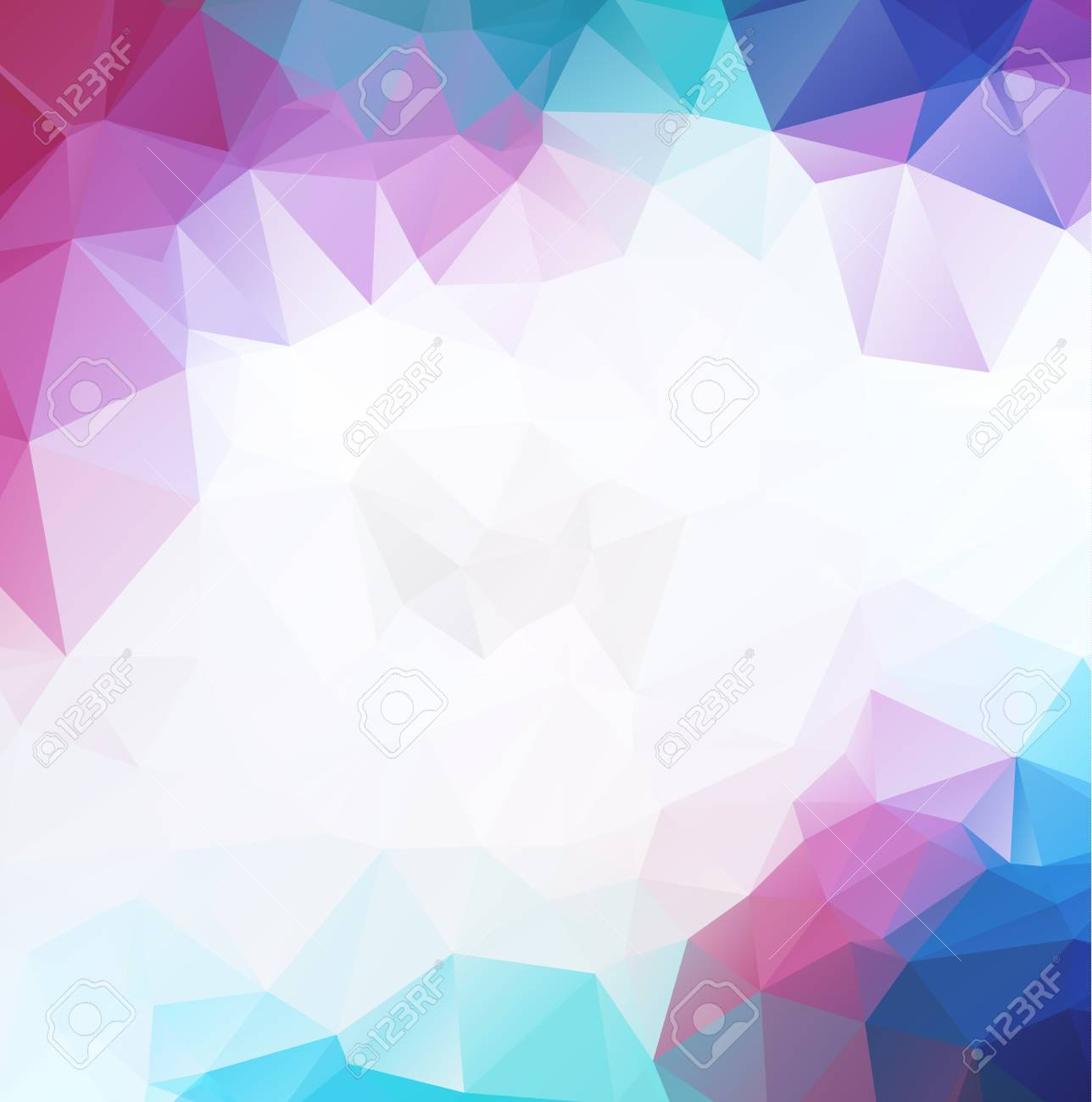 Purple Colorful Geometric Background Origami Style With Moasic     Purple colorful geometric background Origami style with moasic background  or light purple background Stock Vector