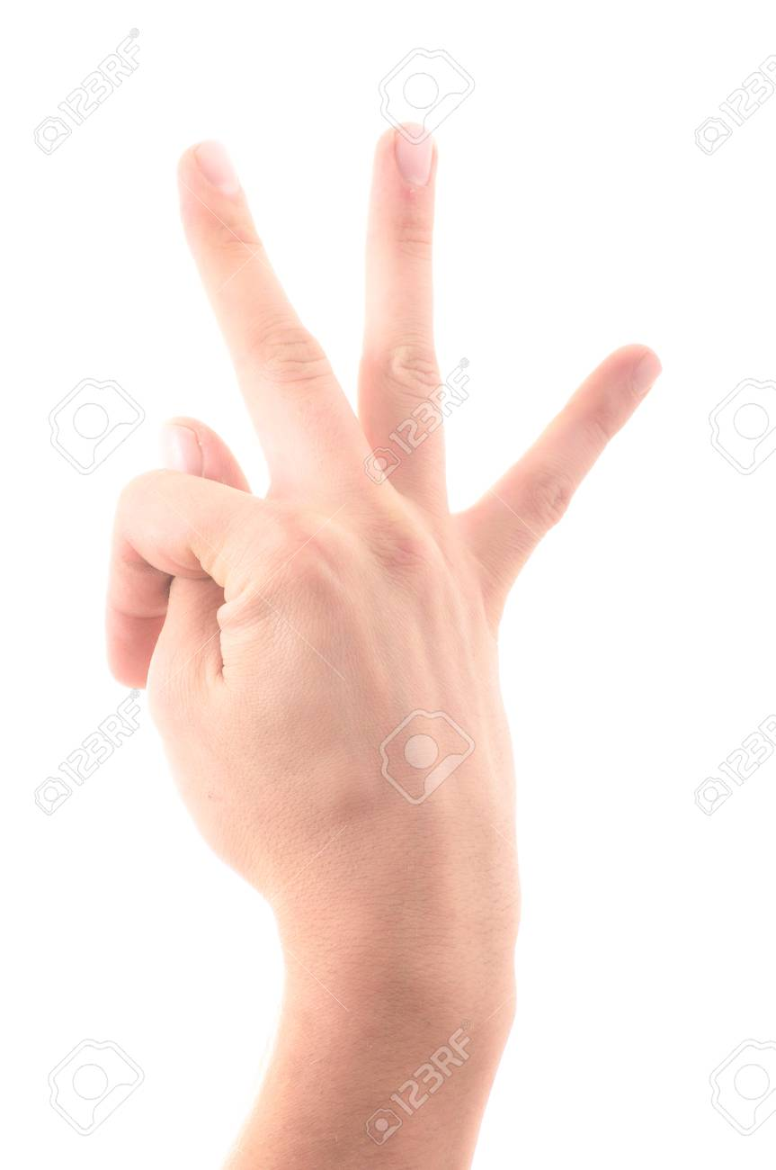 Letter  T  In Sign Language  Hand On A White Background Stock Photo     Letter  T  in sign language  hand on a white background Stock Photo