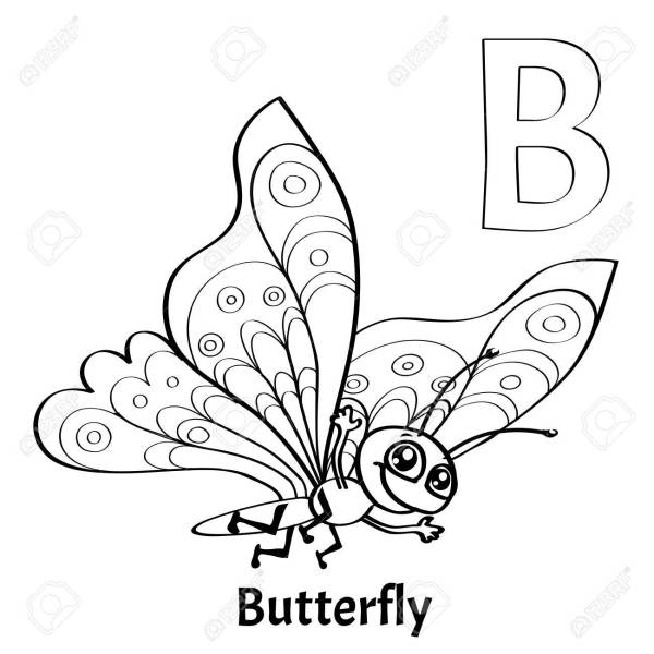 letter b coloring page # 56
