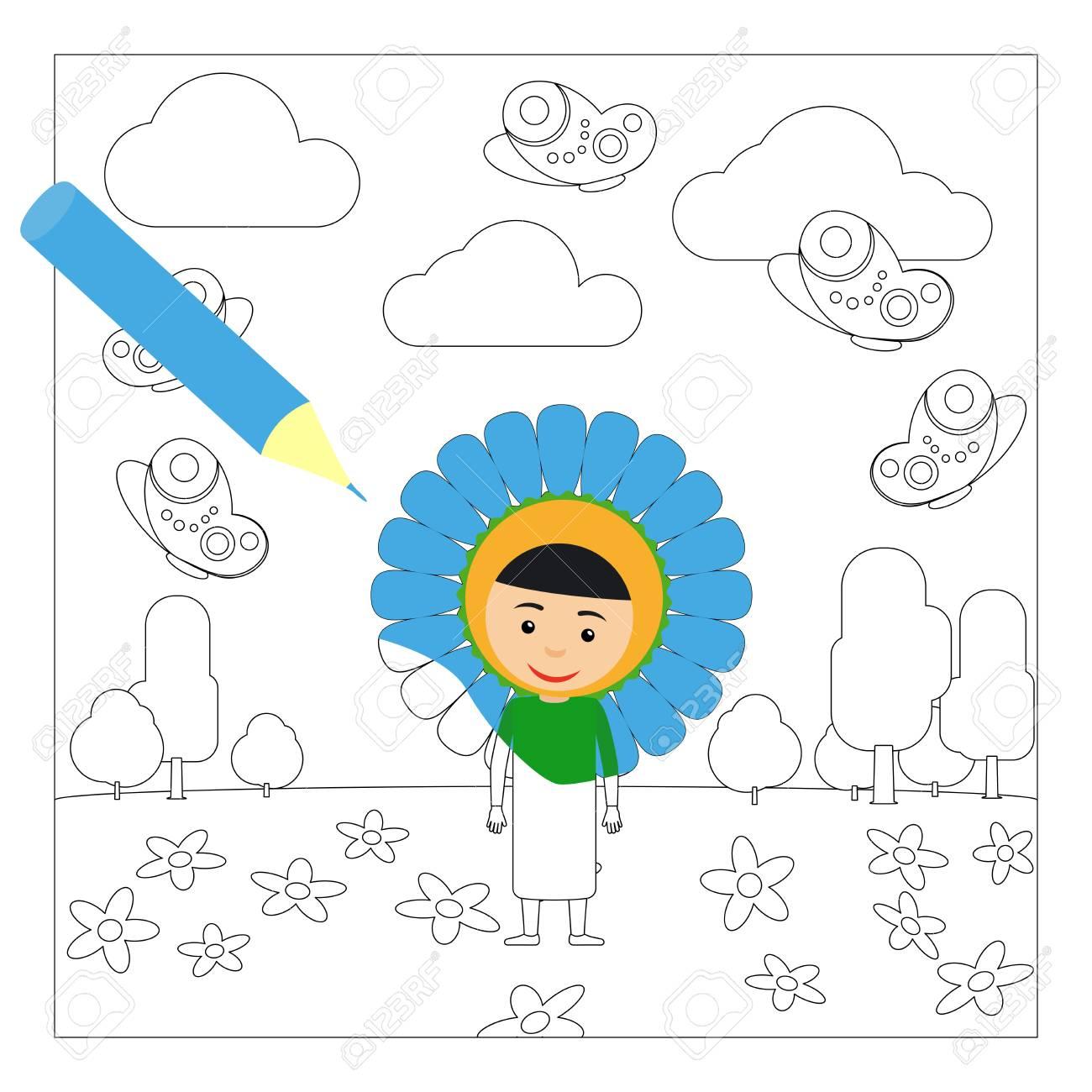 Coloriage Fleur Maternelle Coloring Pages