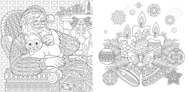 adult christmas coloring pages # 23