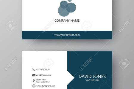 Vector Business Card Template  Visiting Card For Business And     Vector   Vector business card template  Visiting card for business and  personal use  Modern presentation card with company logo  Vector  illustration design