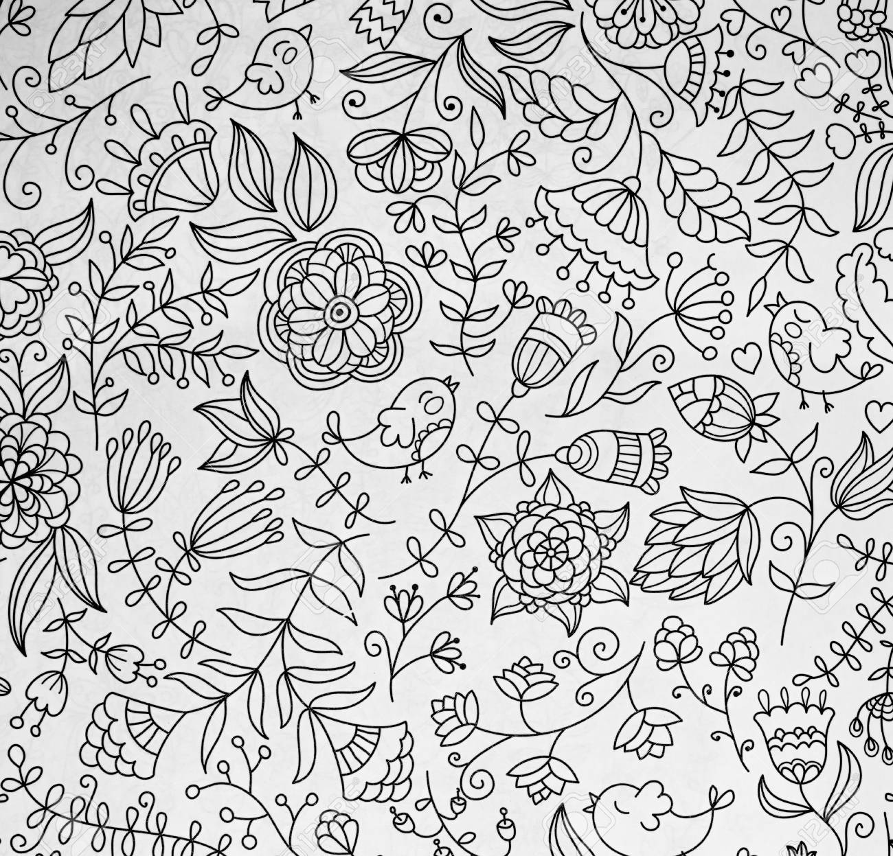 Abstraction Coloring Pages For Adults Stress Relief Top View