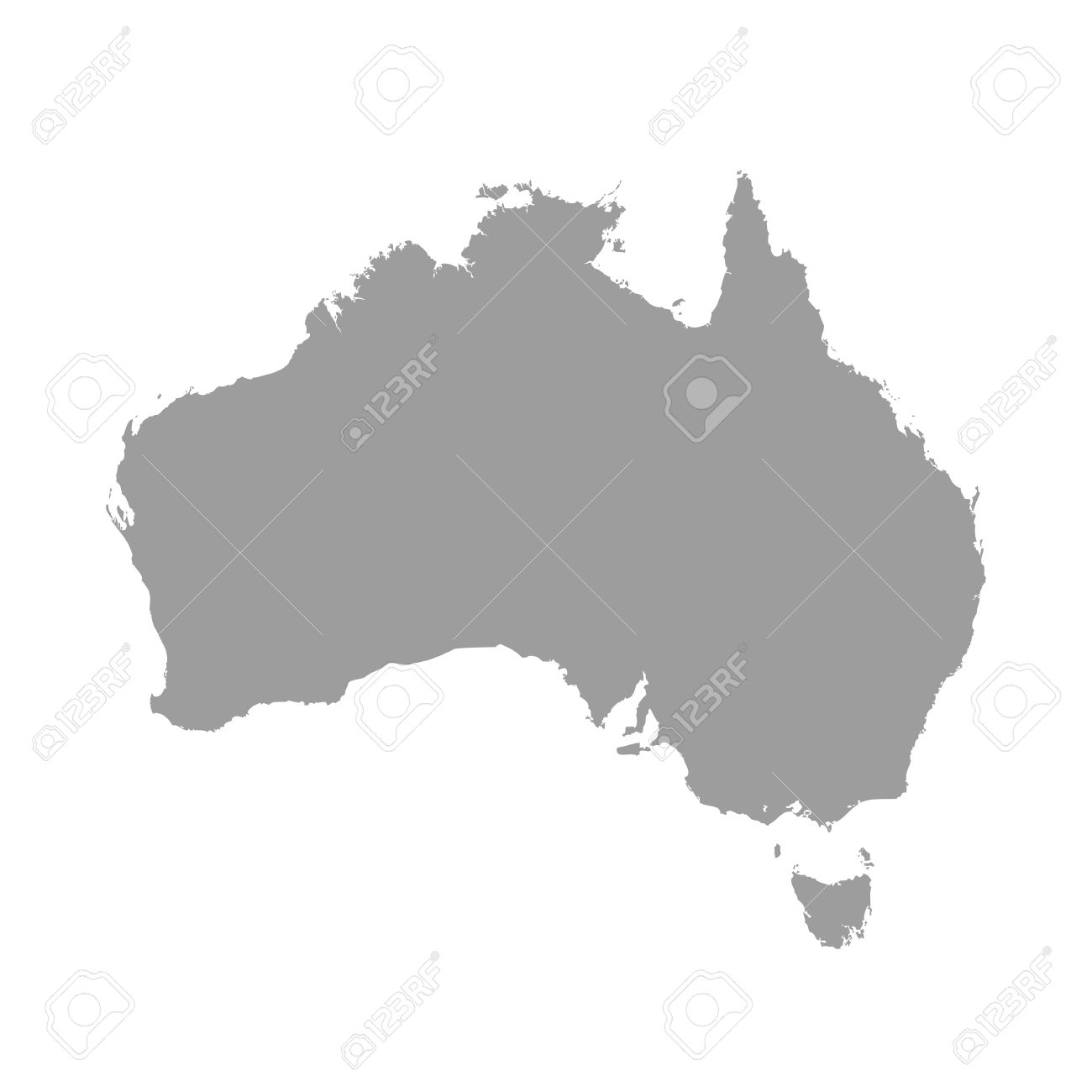 Australia Map Grey Colored On A White Background Royalty Free     Australia map grey colored on a white background Stock Vector   49549406