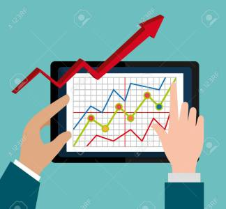 stock market with statistics graphic design vector illustration royalty free cliparts vectors and stock illustration image 47383662