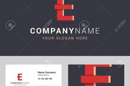 Logotype  Logo Template And Business Card Template  Logotype     Logotype  logo template and business card template  Logotype with E letter  sign  Two