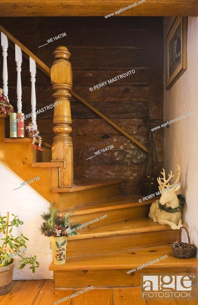 Staircase Inside The Living Room Of An Old Canadiana Cottage Style | Staircase Inside Living Room | Kitchen Stair | Apartment | Inside Lounge | Staircase Tv | Private Home