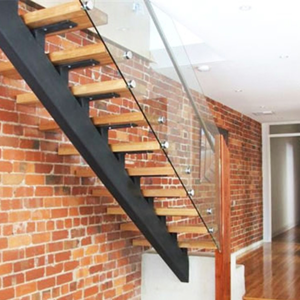 Customized Single Sawtooth Carbon Steel Stringer Straight | Wood Mono Stringer Stairs | Central | Arch | Hardwood | Glass | Timber