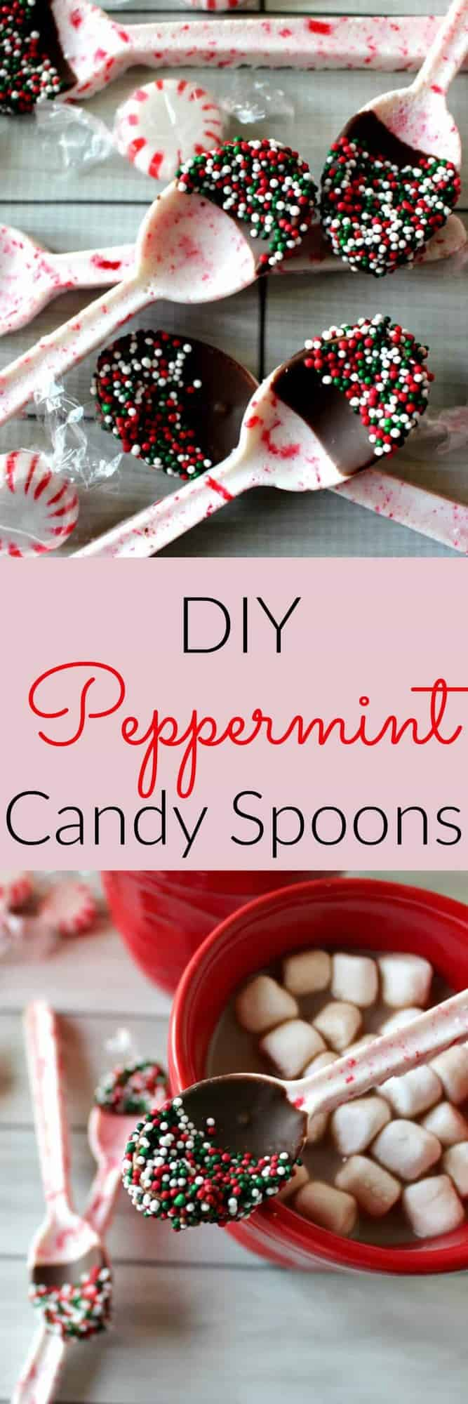 DIY Peppermint Candy Spoons - Princess Pinky Girl