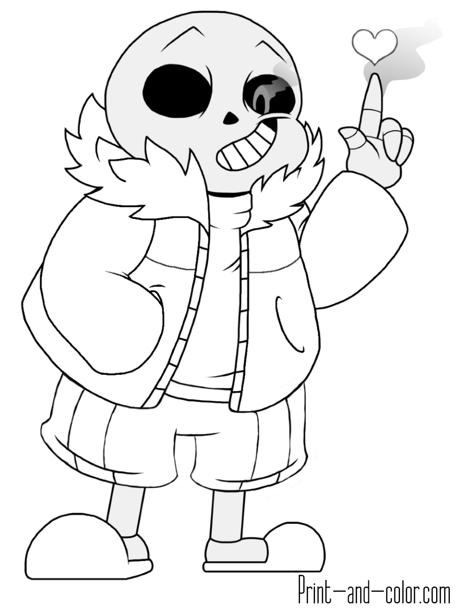 Undertale Coloring Pages Print And Color