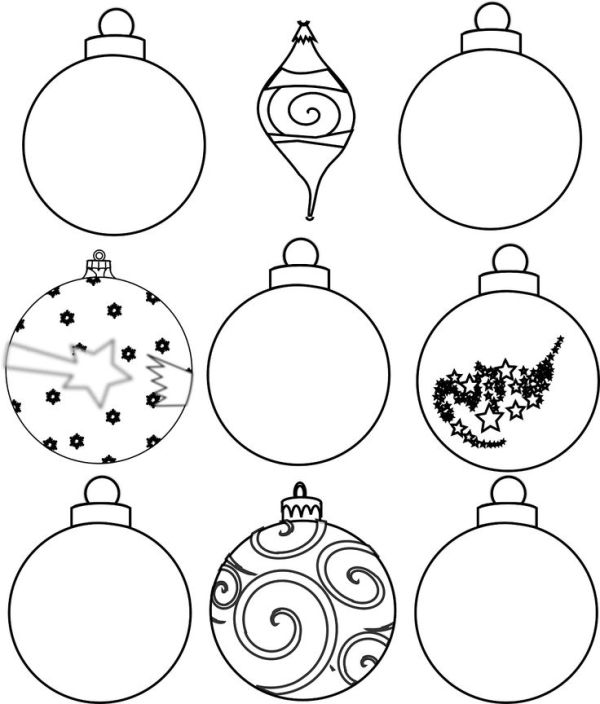 christmas ornament coloring page # 77