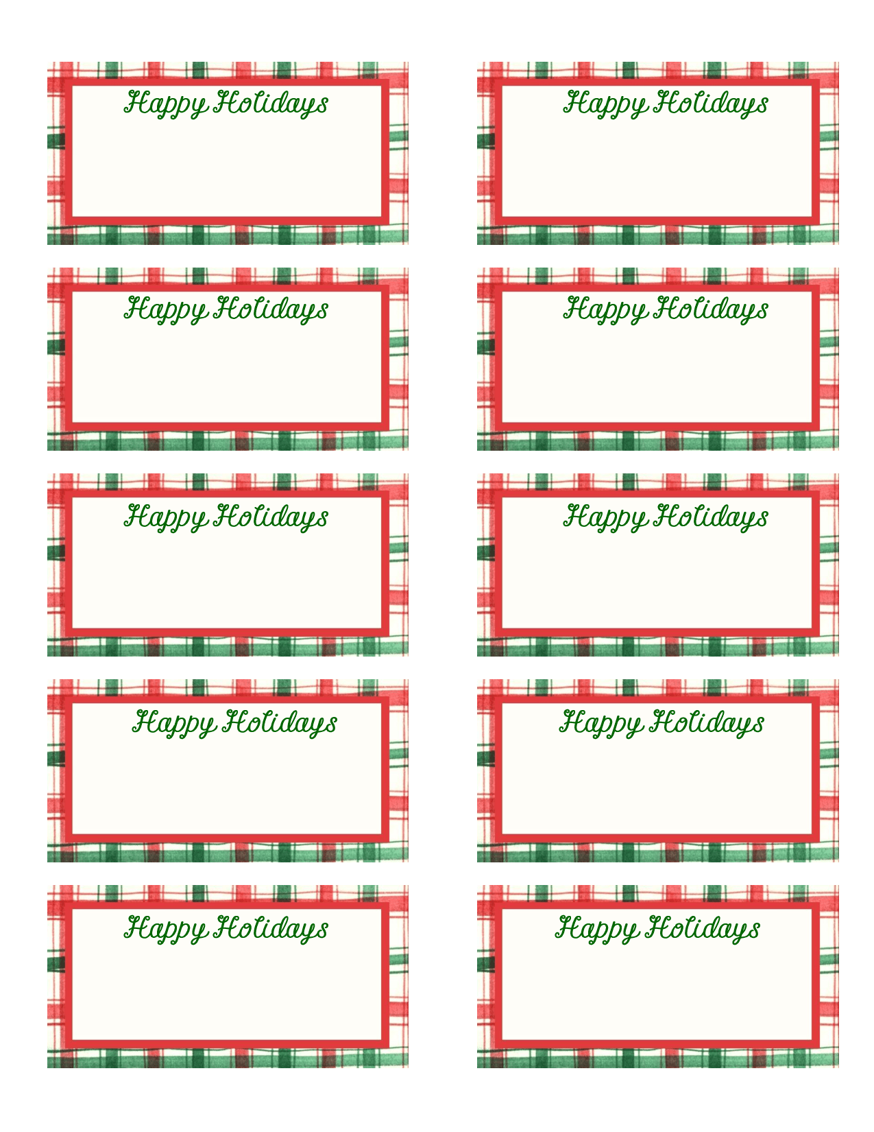 Address 5160 Template Label Avery Holiday