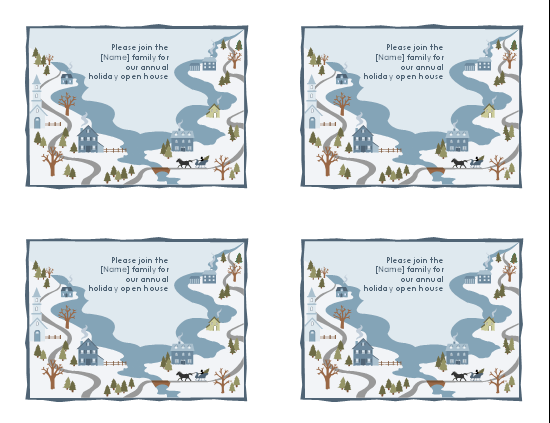 Avery Template 8387 White Postcards