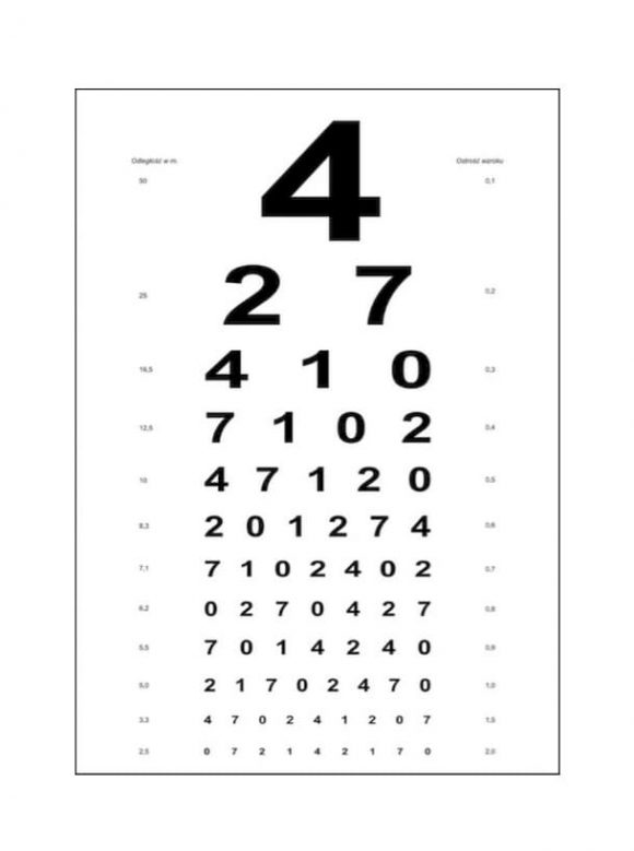 Preschool Eye Exam Chart