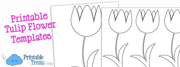 Iris Folding Flower Template