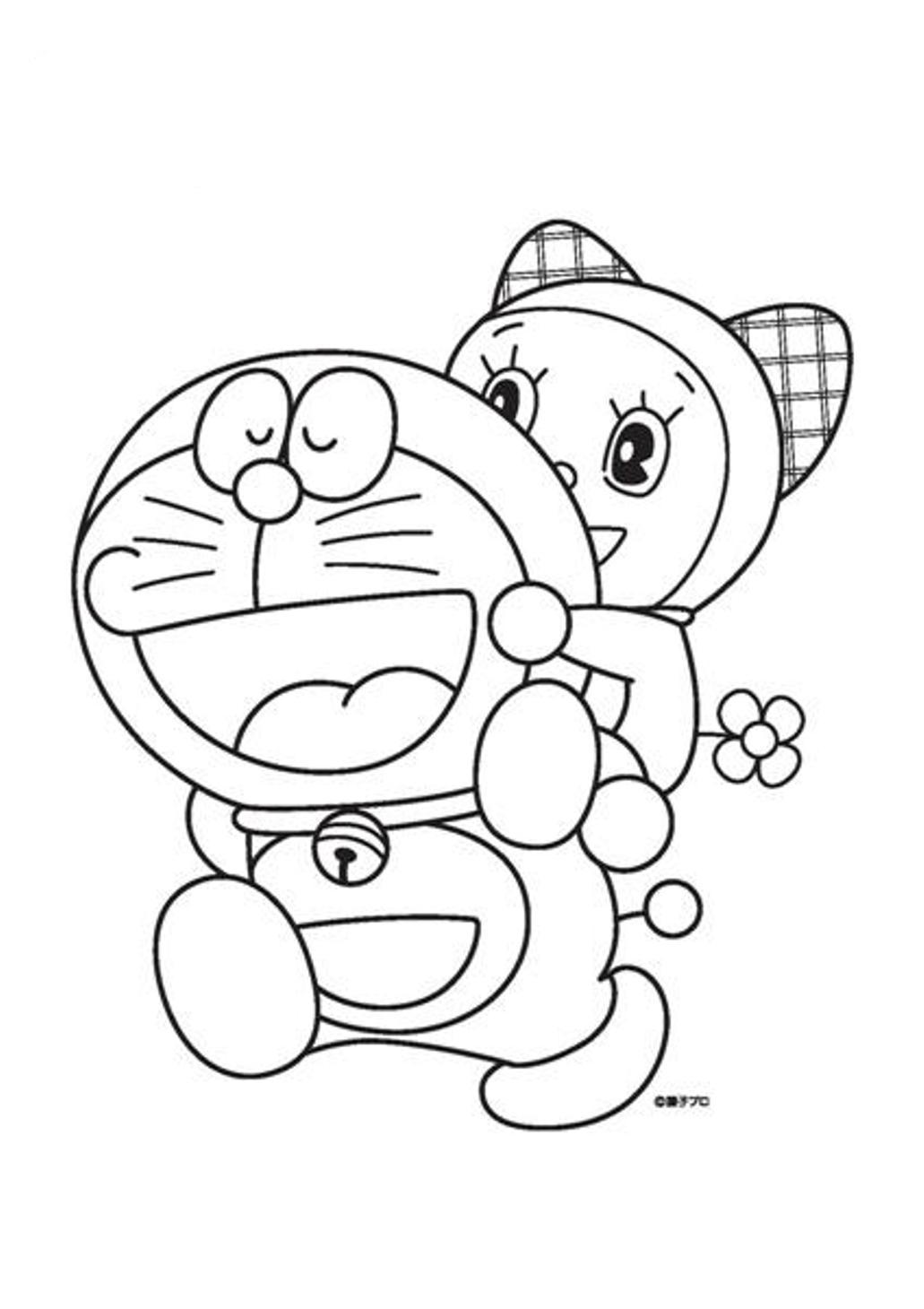 6 Kids Coloring Pages Doraemon Print Color Craft